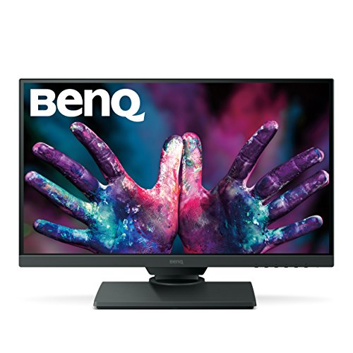 BenQ PD2500Q 25 Inch 1440p QHD Monitor for Graphic Design, IPS, 100% Rec. 709, sRGB, 10 bit  Eye-Care, Height Adjustable, Flicker-Free, Anti-Glare, HDMI, DP from BenQ