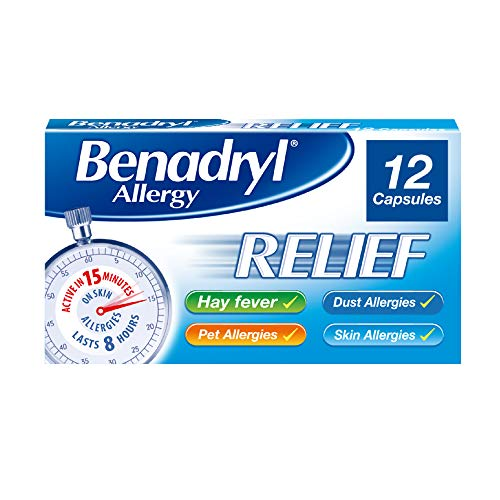Benadryl 'Effective in 15 Minutes' Allergy Relief, 12 Capsules from Benadryl