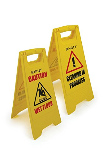 Bentley Industrial FS.01/1 A Frame Wet Floor Sign, Dual Sided, Plastic, Yellow from Bentley Industrial