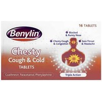 Benylin Chesty Cough And Cold Tablets 16 from Benylin
