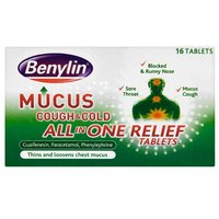 Benylin Mucus All in One Relief Tablets 16 from Benylin