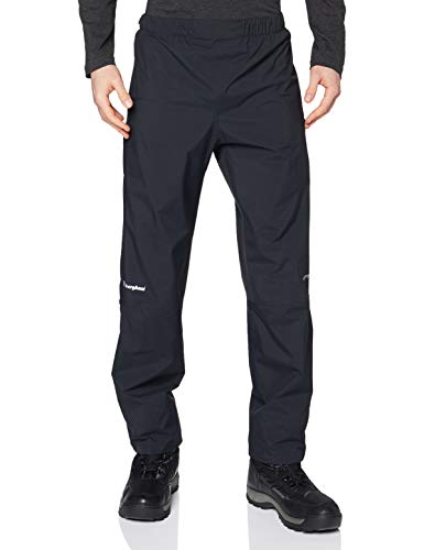 Berghaus Men's Paclite Gore-Tex Waterproof Overtrousers Long (33 Inches) Black XL (37-39 Inches) from Berghaus