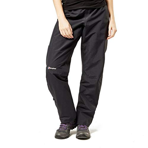 Berghaus Women's Hillwalker Waterproof Trousers, Black, 14 (31 inches)/Short (29 inches) (L) from Berghaus