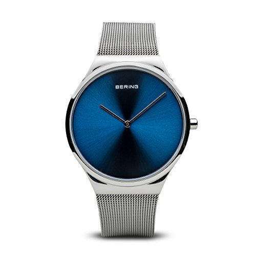 BERING Men's Analogue Quartz Watch with Stainless Steel Strap 12138-007 from BERING