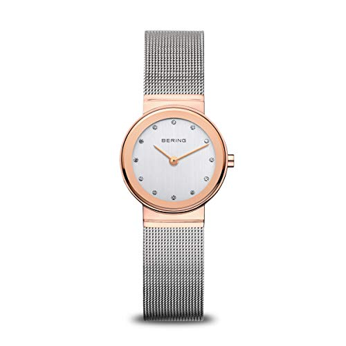 Bering Time 10126-066 Women's Quartz Analogue Watch-Silver Stainless Steel Strap from BERING