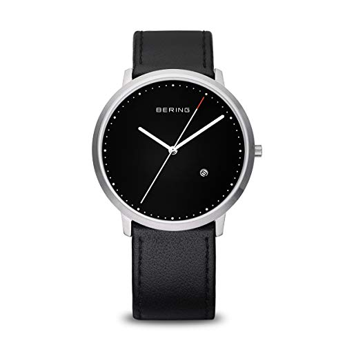 BERING Men's Analogue Quartz Watch with Leather Strap 11139-402 from BERING