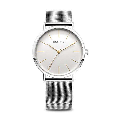BERING Unisex Adult Analogue Quartz Watch with Stainless Steel Strap 13436-001 from BERING