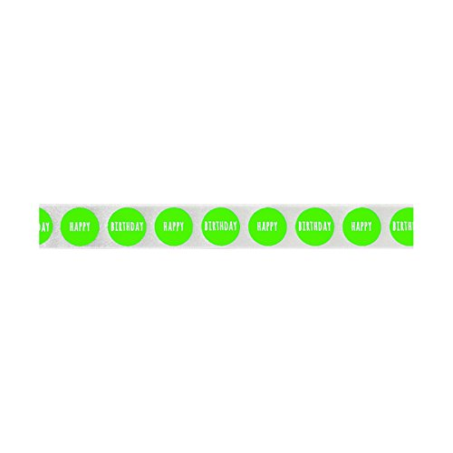 Berisfords Big DOT Birthday, Polyester Flo Green, 10.2 x 3 x 10.2 cm from Berisfords