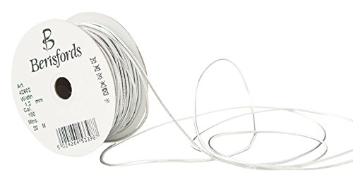 Berisfords 1.2MM Round Metallic Elastic, Polyester, Silver, 6 x 6 x 2.7 cm from Berisfords
