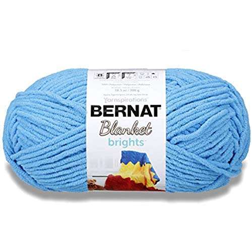 BERNAT Blanket Brights Big Ball Yarn-Busy Blue, Fibre: 100% Polyester, 300G from Bernat
