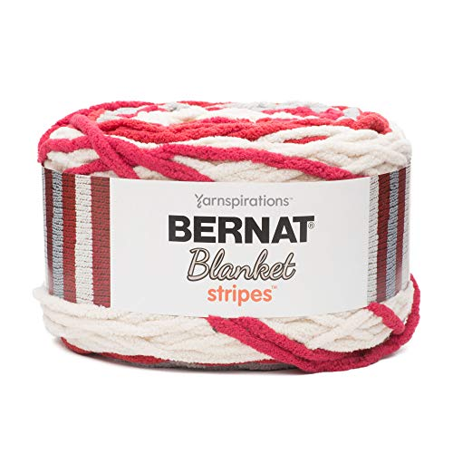 Bernat Blanket Stripes Yarn-300G- Red Alert from Bernat