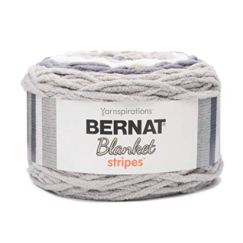 Bernat Blanket Stripes Yarn-300G- Grey Matters from Bernat