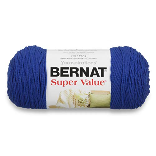 BERNAT Super Value Solid Yarn, Royal Blue, 3 Units from Bernat