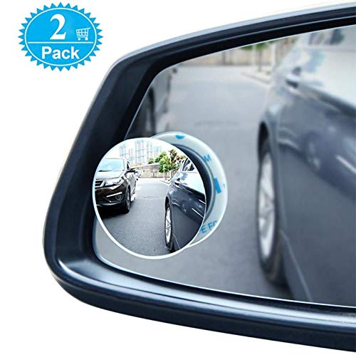 Blind Spot Mirrors For Cars - BeskooHome Waterproof 360°Rotatable Convex Rear View Mirror For Universal Cars -2 Pack from BeskooHome