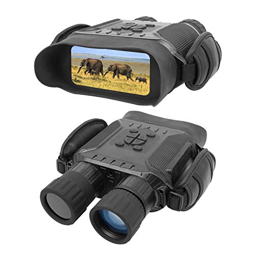 "Night Vision Binoculars, HD Digital Infrared Hunting Binocular Scope with 32G Memory card, 2592*1944 Picture & 1280*720 Video and 4"" LCD Screen 4.5X Magnification IR Camera in 400m/1300ft for Wildlife from bestguarder"