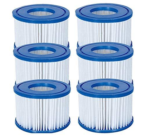 Bestway Flowclear Size VI Replacement Filter Cartridge for Lay-Z-Spa - Miami, Vegas, Palm Springs, Paris, Monaco - 3 x Twin Pack from Bestway