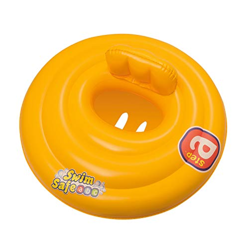 Bestway Baby Swim Safe Seat (Step A) Learn to Swim Round Inflatable, Yellow, 0-12 Months from Bestway