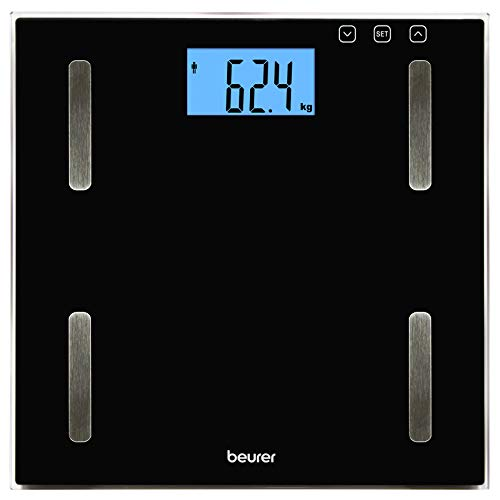 Beurer BF-179 Digital Diagnostic Scales with Glass BMI, Black – 1550 g from Beurer