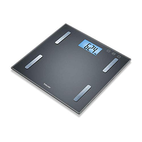Beurer BF 180 Diagnostic Scales with Body Fat Scale with BMI Calculator and Large LCD Display, Black from Beurer