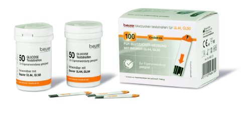 Beurer GL 44 & GL 50 Glucose Test Strips Pack of 100 from Beurer