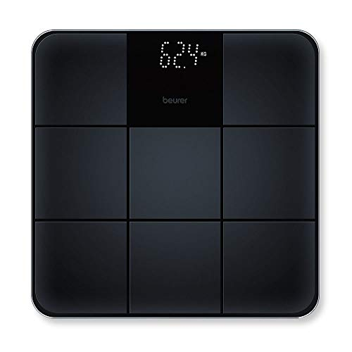 Beurer GS 235 Glass Weighing Scales Digital Bathroom Scales with Tile effect Display and with Anti-Slip Surface from Beurer