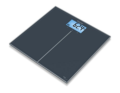 Beurer GS 280 BMI Digital Bathroom Scales with Interpretation of BMI Genius Glass with Colour Display from Beurer