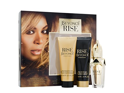 Beyonce Rise Gift Set contains EDP 30 ml/ Shower Gel 75 ml and Body Lotion 75 ml from Beyonce