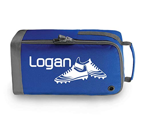 beyondsome Personalised Football Boots Bag Football Gift (Royal Blue/White Print) from beyondsome