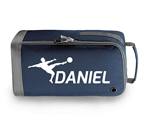 beyondsome Children's Personalised Football Boot Bag (Navy/White Print) from beyondsome