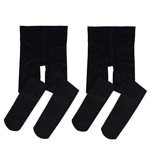 Bezioner Footed Ballet Dance Tights for Kids Girls Women 2 pairs Black S from Bezioner