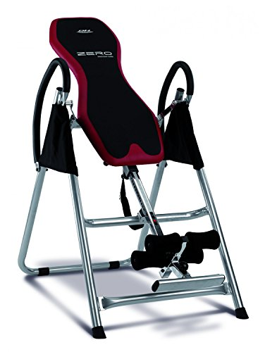 BH Fitness Unisex Zero Adjustable Foldable Inversion Table, Black/Red, Unique from Bh Fitness