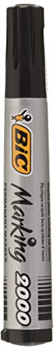 BIC Marking 2000 ECOlutions Permanent Bullet Tip Markers - Black, (Pack of 1) from Bic