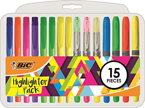 BIC 958149 Highlighters Pen - Multi-Colour (Pack of 15) from Bic