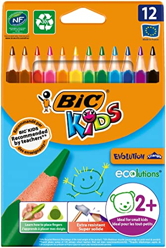 BIC Kids Evolution Triangle ECOlutions Colouring Pencils 12 Pack from Bic