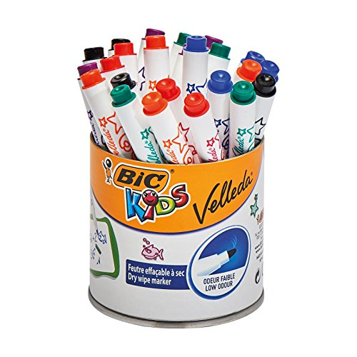 BIC Kids Mini Velleda Whiteboard Markers - Pot of 24 from Bic