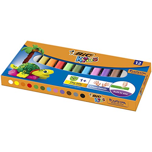 BIC Kids Plasticine - Assorted Colours, Pack of 12 from Bic
