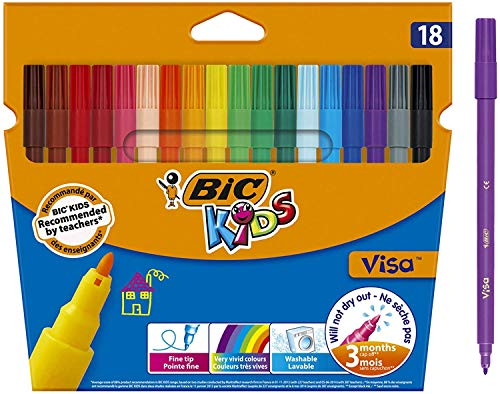 BIC Kids Visa Colouring Pens 18 Pack from Bic