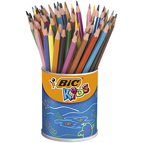 BIC Kids Evolution ECOlutions Colouring Pencils - 24 Assorted Colours, Tin Pot of 60 from Bic