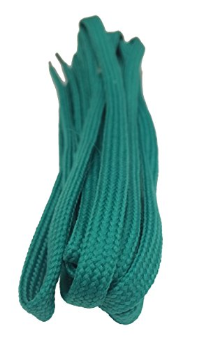 Big Laces Flat Shoelaces - Huge Choice Of Lengths and Colours (7mm X 120cm, Jade) from Big Laces