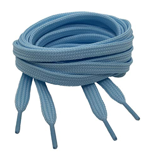 Big Laces Flat Shoelaces - Huge Choice of Lengths and Colours (7mm X 120cm, Baby Blue) from Big Laces