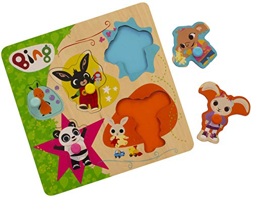 Bing Wooden Pick and Place Puzzle, Multi from Bing
