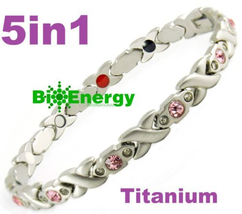 Magnetic Energy Germanium Armband Power Bracelet Health Bio Magnet 5in1 lady's 281 from BioEnergy International