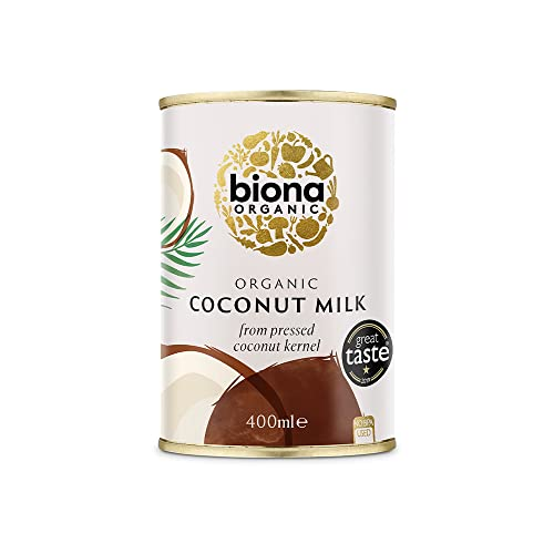Biona Organic Coconut Milk, 400 ml, Pack of 6 from Biona