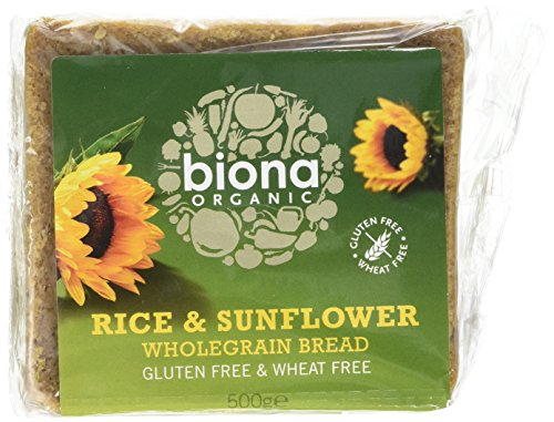 Biona Organic Rice Bread with Sunflower Seed 500g (Pack of 6) from Biona