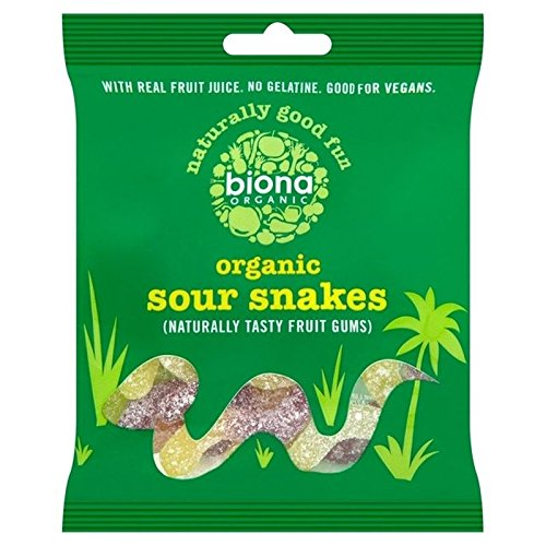 Biona Organic Sour Snakes 75g - Pack of 6 from Biona