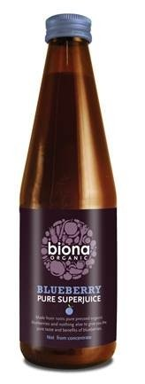 Biona Organic Super Juice - Blueberry 100% Pure 6x330ml from Biona