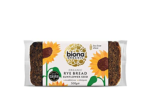 Biona Organic Rye Sunflower Seed Bread 500g (Pack of 6) from Biona