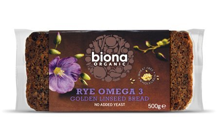 Organic Omega Rye Bread (500g) - x 2 *Twin DEAL Pack* from Biona