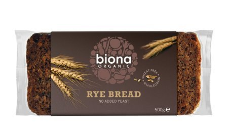 Organic Wholemeal Rye Bread (500g) *Bulk Pack of 12* from Biona