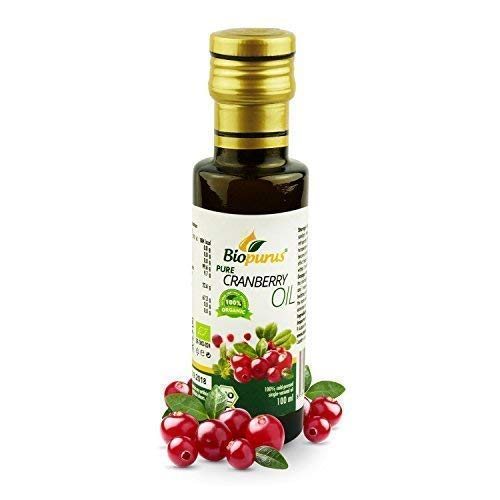 Certified Organic Cold Pressed Cranberry Seed Oil 100ml Biopurus from Biopurus